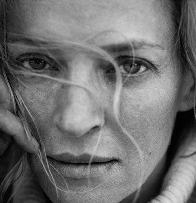 pirelli calender 2017 featuring actress uma thurman photographed by peter lindbergh