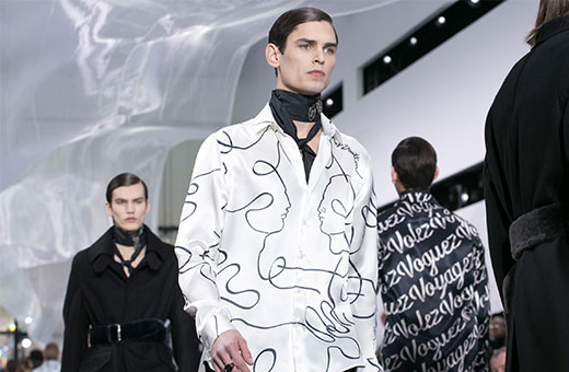 daring men's fashion trends featuring louis vuitton scarves