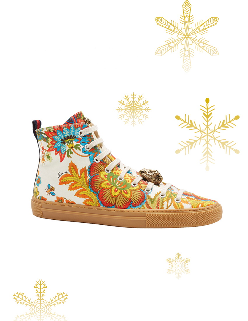 gucci major high top trainers in ardenia fabric