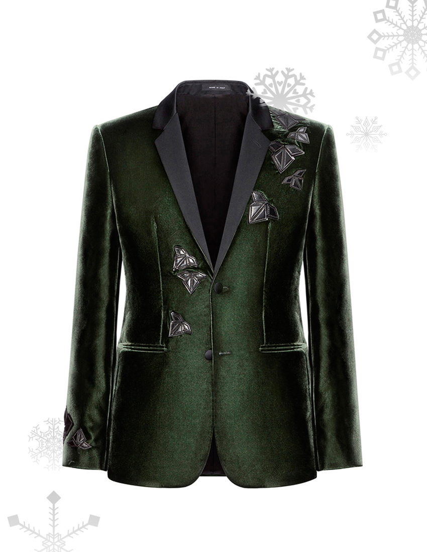 emporio armani green suede jacket