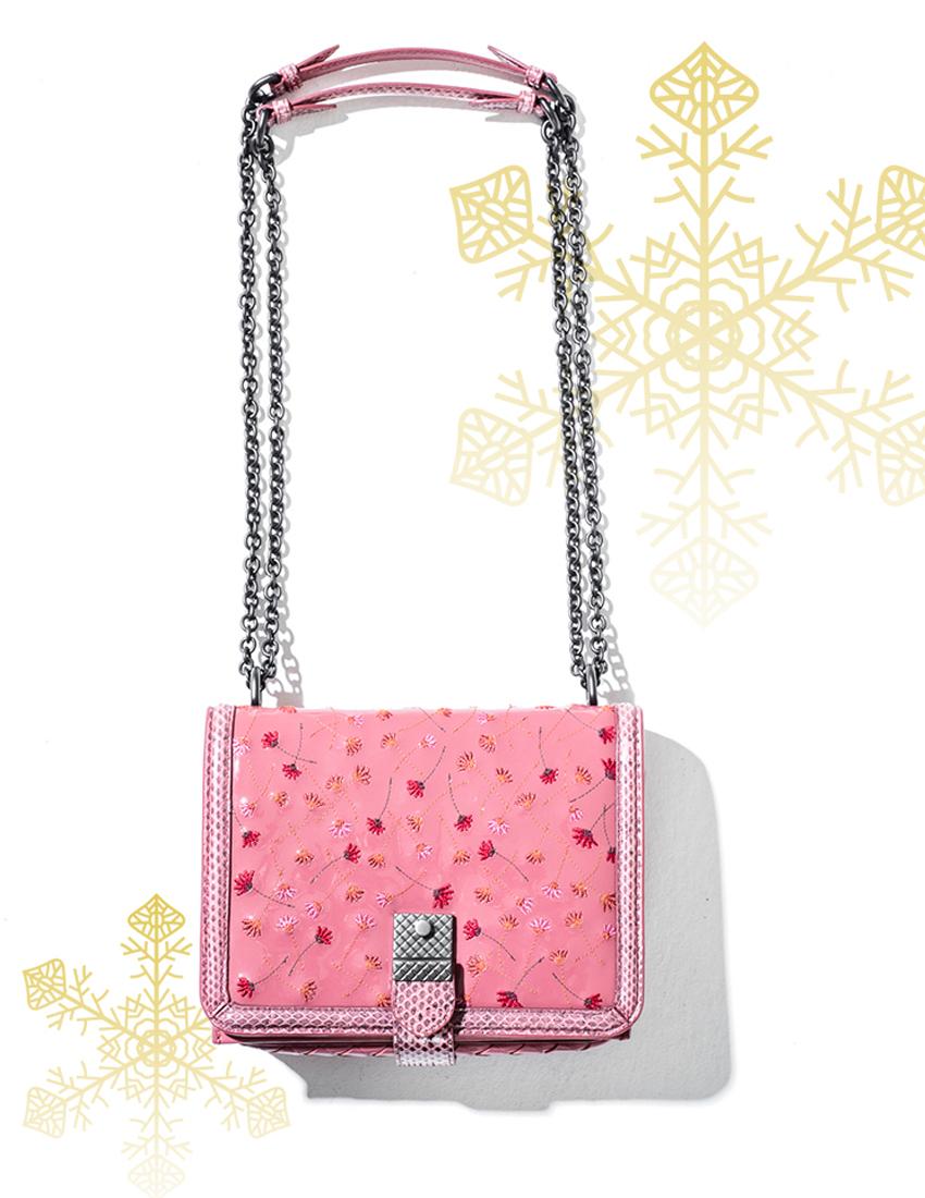 bottega veneta pink floral bag
