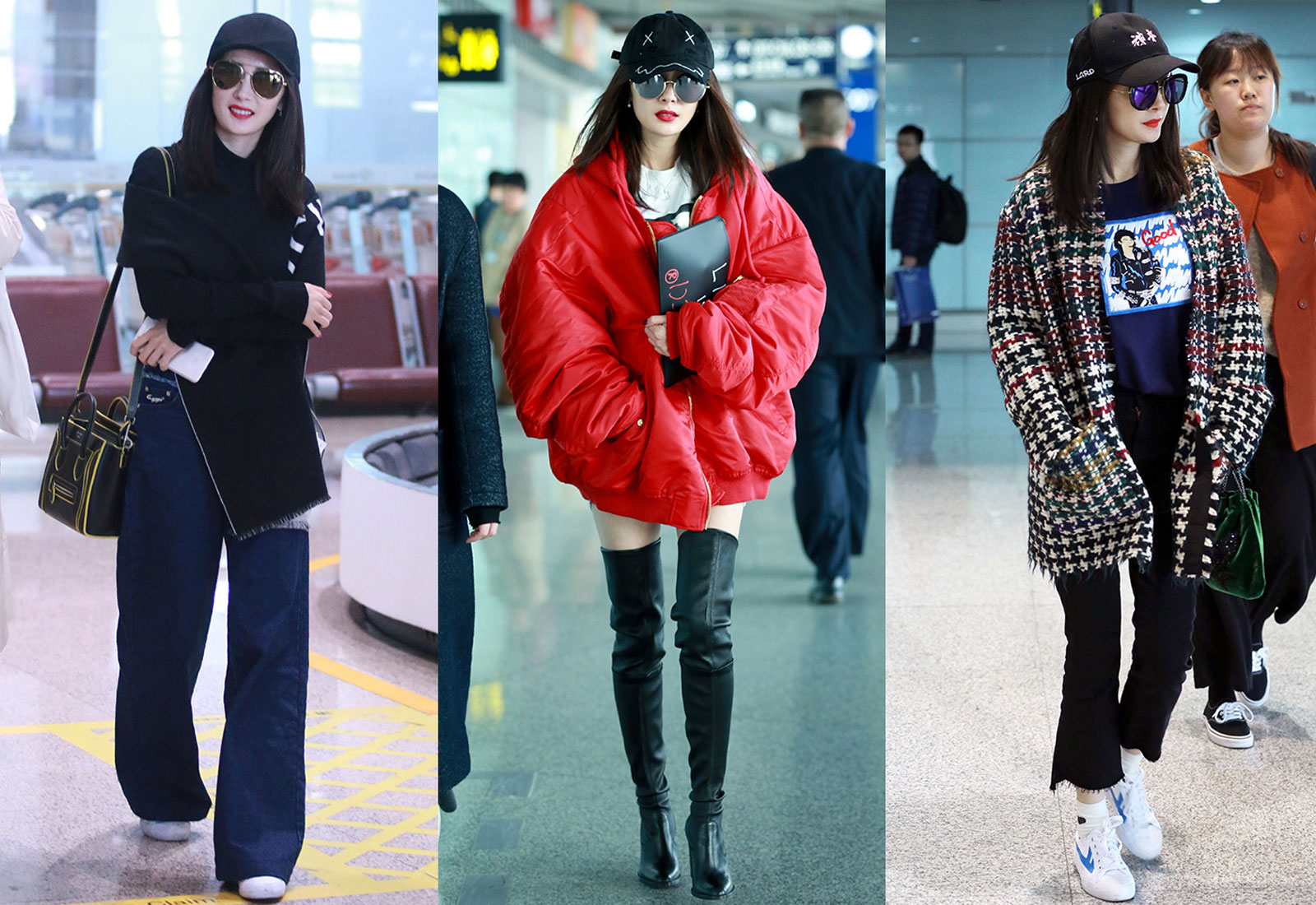 chinese actress yang mi street fashion looks and outfits